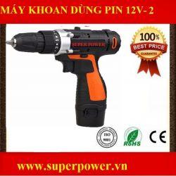 Máy khoan dùng pin 12v- 2 tốc độ